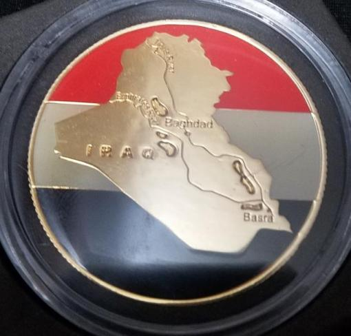 Rare International Iraqi Special Forces Counter-Terrorism Command Commander's Challenge coin back