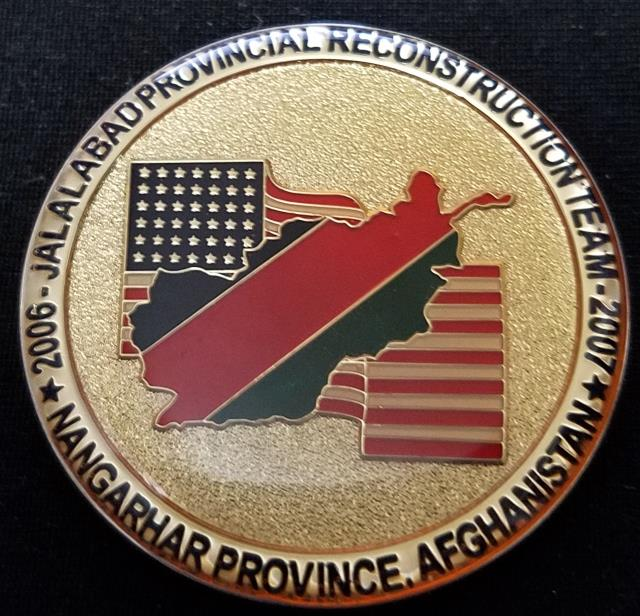 Provincial Reconstruction Team Jalalabad Combined Joint Task Force-76 CJTF-76 challenge coin back
