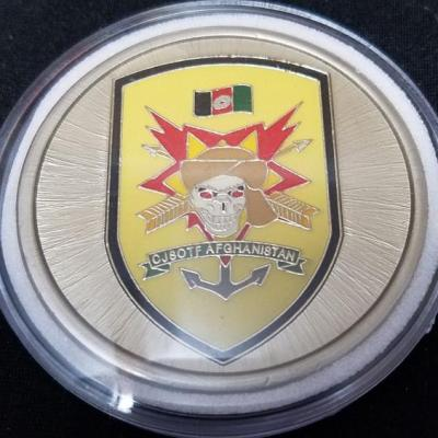 Combined Joint Special Operations Task Force-Afghanistan CJSOTF-A Round round V3 challenge coin BACK