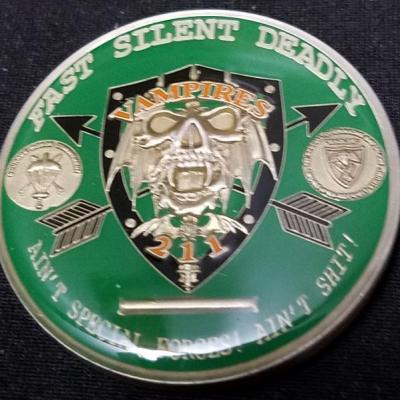 Romanian Special Operations Force Vampires 211 Challenge Coin