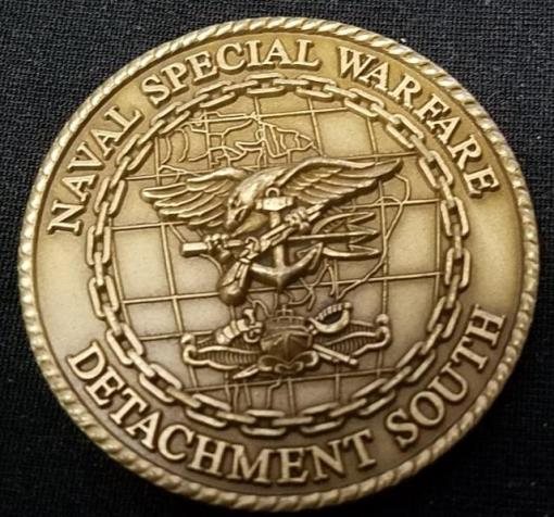 Rare NAVSPECWARCOM Det South Naval Special Warfare Command Detachment South SOCSOUTH challenge coin