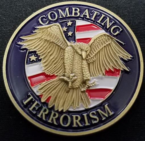 Rare Department of Defense Combating Terrorism challenge coin back