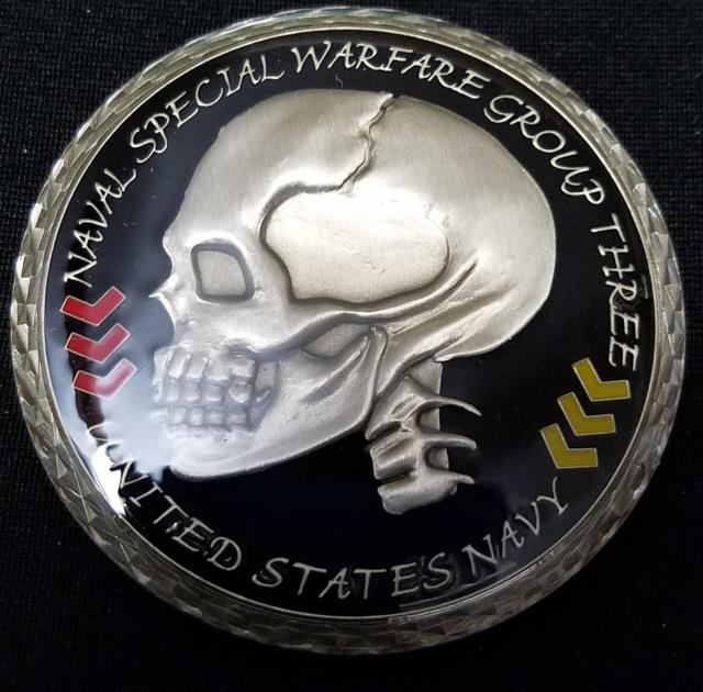 Naval Special Warfare Group 3 NSWG-3 Navy Chief Goat locker V2 Coin #392 Challenge Coin BACK