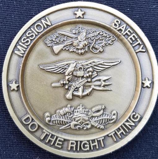 NSWTU-Central US Navy Special Warfare Task Unit Central CJTF-561 SOCCENT challenge coin back