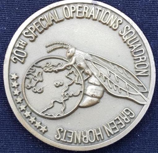 USAF AFSOC 20th SOS Green Hornets US Air Force Special Operations Command 20th Special Operations Squadron Challenge Coin