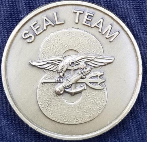 US Naval Special Warfare Navy Seal Team 8 Challenge Coin