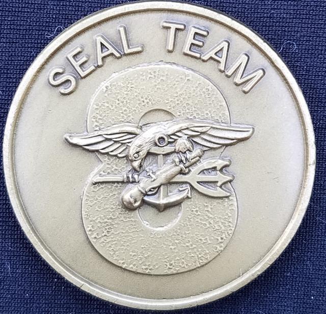 US Naval Special Warfare Navy Seal Team 8 Challenge Coin - Phoenix  Challenge Coins