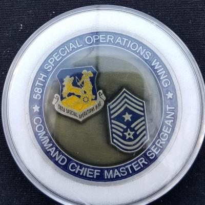 AFSOC 58th SOW CMSGT US Air Force Special Operations Command 58th Special Operations Wing Command Chief Master Sergeant Challenge Coin backq