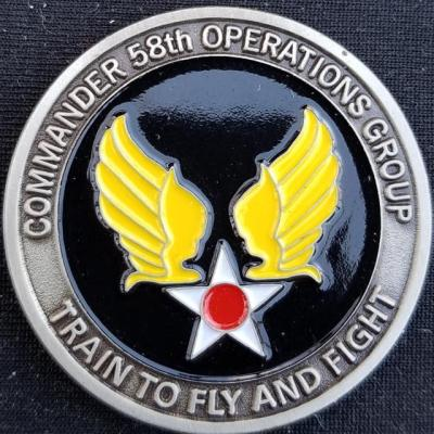 AFSOC 58th SOG US Air Force Special Operations Command 58th Special Operations Group Commanders Challenge Coin back
