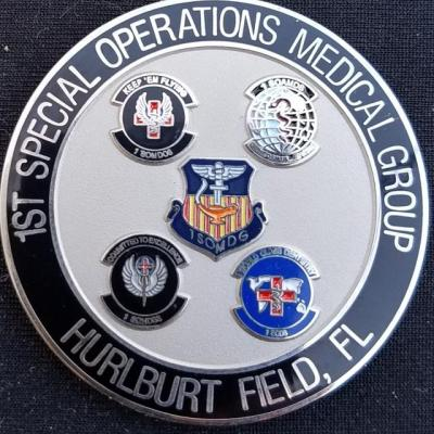 AFSOC 1st SOMG Air Force Special Operations Command 1st Special Operations Medical Group Commander Challenge Coin