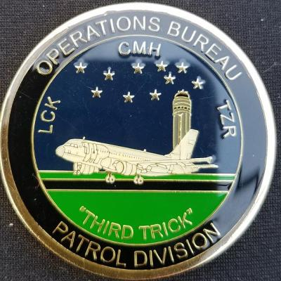 Columbus Regional Airport Authority CMH Police C Watch Third Trick Challenge Coin By Phoenix Challenge Coins back