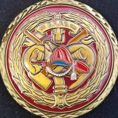 Charlie Rousse Fire Company Winchester, VA Challenge Coin by Phoenix Challenge Coins