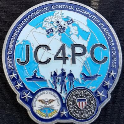 JC4PC Joint Communications Command Control Computers Planners Course Unique Shaped Challenge Coin by Phoenix Challenge Coins