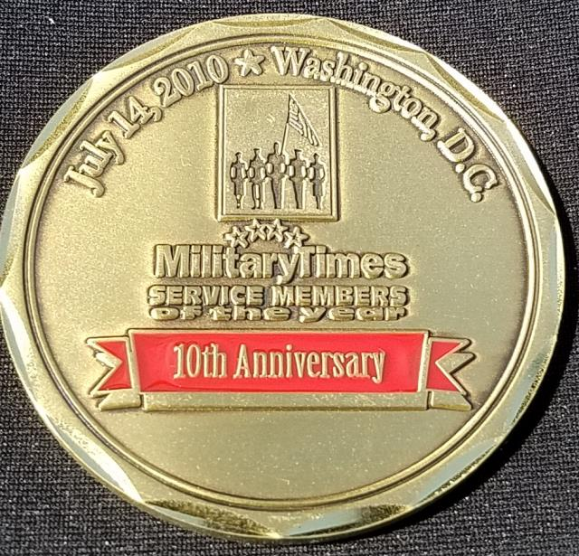 Military Times 10th Anniversary Custom Challenge Coin