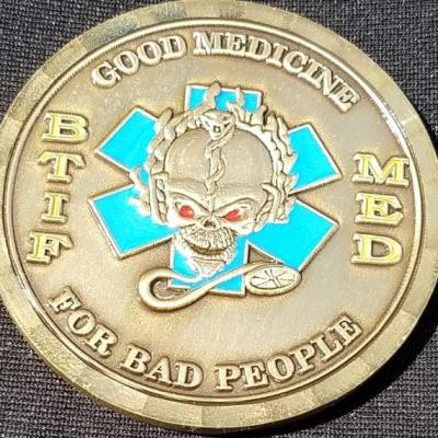 Task Force Wolverine BTIF Med OEF 08-09 Deployment Custom Coin by Phoenix Challenge Coins back