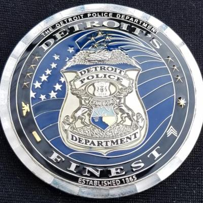 Detroit PD's Finest custom police coin by Phoenix Challenge Coins