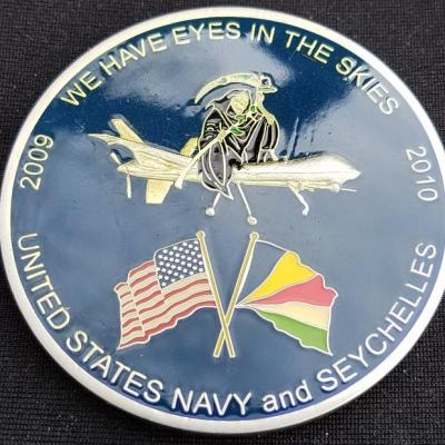 USN Seychelles Deployment 08-09 TF Ocean Look Custom Challenge Coin by Phoenix Challenge Coins