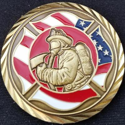 St Johns South Carolina Fire Rescue Custom Challenge Coin By Phoenix Challenge Coins back