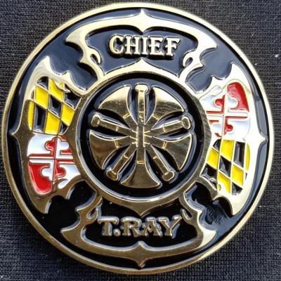 Greenbelt Fire Department Chief Custom Challenge Coin by Phoenix Challenge Coins