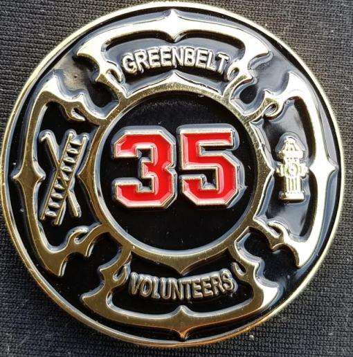 Greenbelt Fire Department Chief Custom Challenge Coin by Phoenix Challenge Coins
