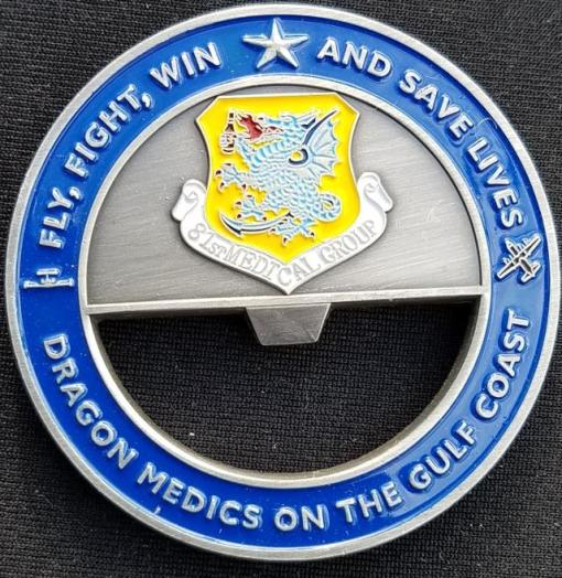 81st Medical Group Bottle Opener Gen Corum Custom Unit Coin by Phoenix Challenge Coins
