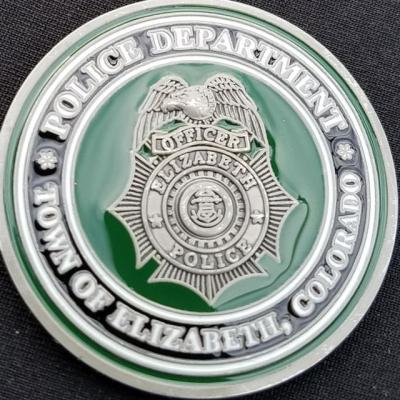 Elizabeth Colorado Police Custom Challenge Coin by Phoenix Challenge Coins