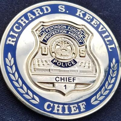 Pentagon Police Chief Richard Keevill Police Chief Challenge Coin BACK