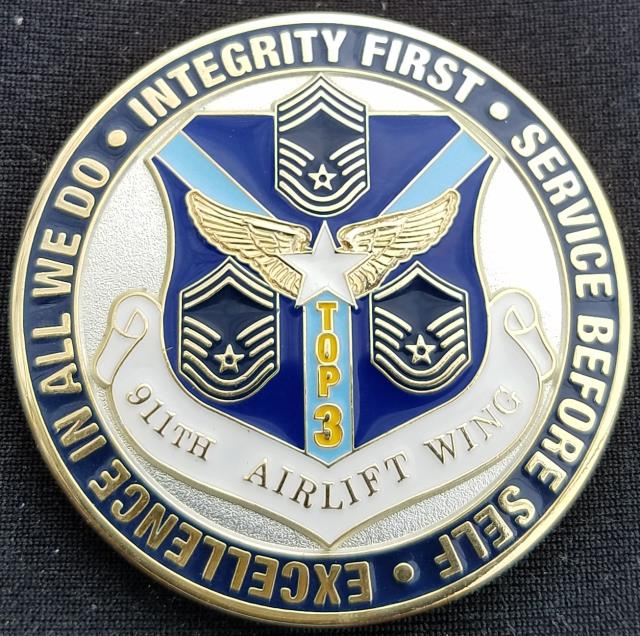 USAF 911th Airlift Wing Top 3 Council Custom Air Force Challenge Coin -  Phoenix Challenge Coins