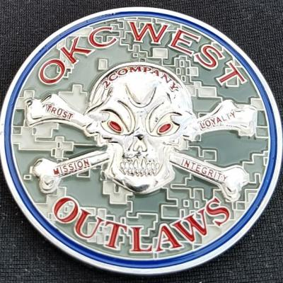 US Army Recruiting Company OKC West 2 Co Outlaws Command team Challenge Coin by Phoenix Challenge Coins
