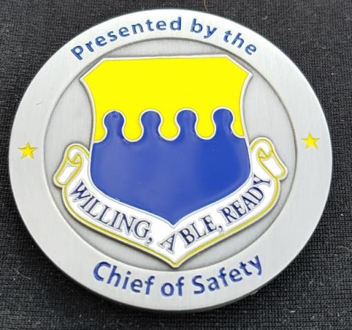 AF Chief of Safety Commander's Coin by Phoenix Challenge Coins back