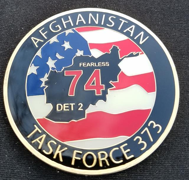USNMCB Seabee 74 US Navy Construction Battalion 74 Det 2 Challenge Coin by Phoenix Challenge Coins back