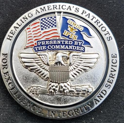 81 IPTS USAF Commanders Coin by Phoenix Challenge Coins back