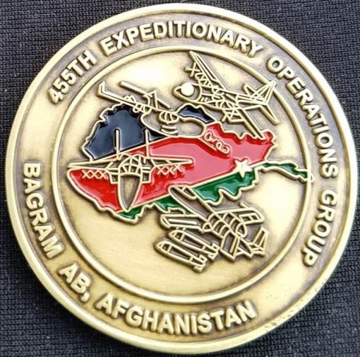 USAF 455th EOG Expeditionary Operations Group Aeromedical Evacuation OEF EMS Challenge Coin by Phoenix Challenge Coins