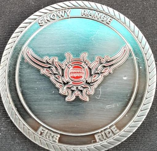 Rawlins WY Fire Coin back