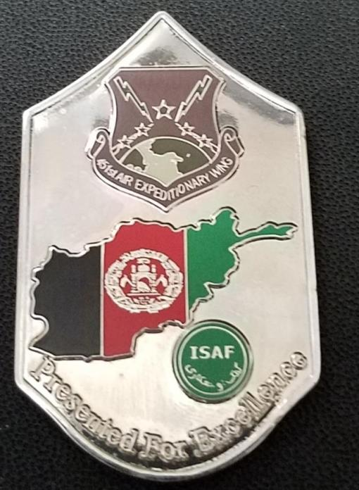 451 Air Expeditionary Wing Command Chief USAF Custom unit coin by Phoenix Challenge Coins back