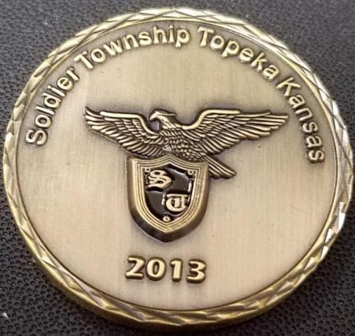 Soldier Township KS Fire Dept custom 2013 Challenge Coin by Phoenix Challenge Coins back