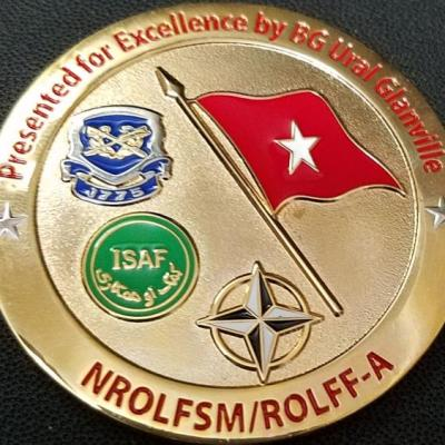 BG Glanville Justice For Afghanistan Commanding Generals Custom Coin By Phoenix Challenge Coins back