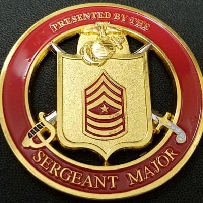 USMC Training and Education Command Sergeant Major Challenge Coin back