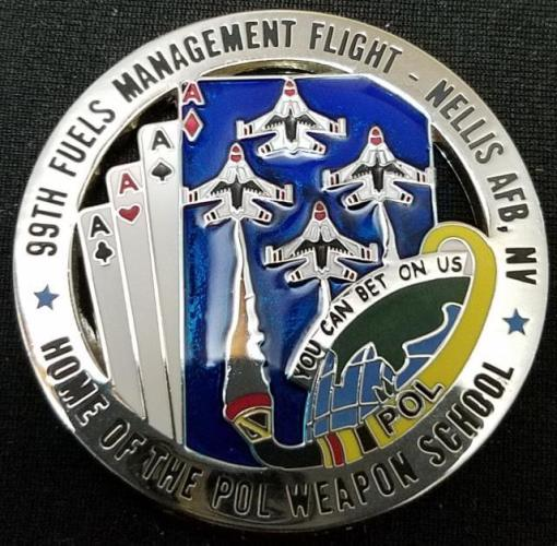 99th POL Thunderbirds Nellis round cards cut out coin