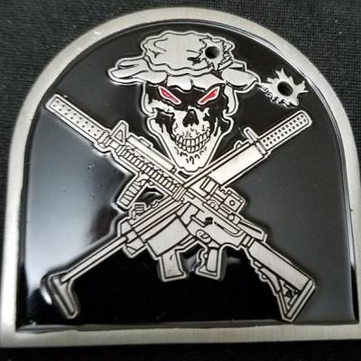 US Navy SEAL Special Warfare Gunners Mate Tombstone shaped Challenge Coin