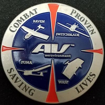 AV Environment™ UAV Global Observer Hale Program Office Challenge Coin back