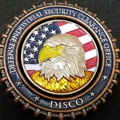 US Defense Industrial Security Clearance Office DISCO Spinner Challenge Coin