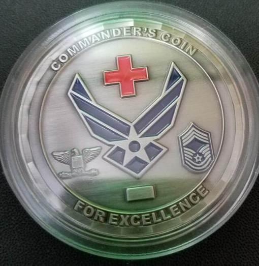 USAF 81st Medical Group Challenge Coin back