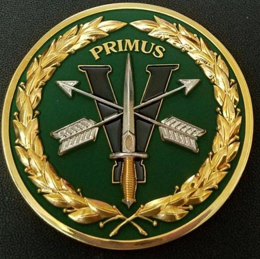 US Army 5th SFG (A) 5th Special Forces Group Airborne Primus Challenge Coin back