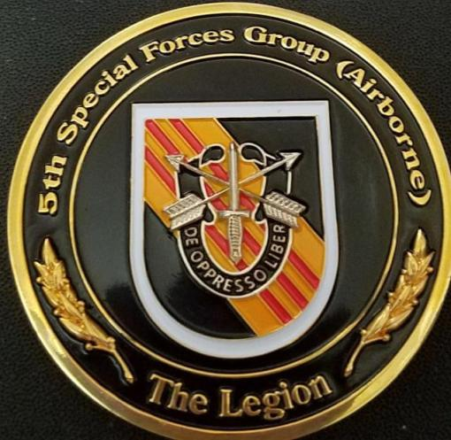 US Army 5th SFG (A) 5th Special Forces Group Airborne Primus Challenge Coin