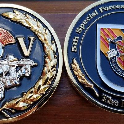 "US Army 5th SFG(A) 5th Special Forces Group Airborne ""Legion"" Custom Challenge Coin"