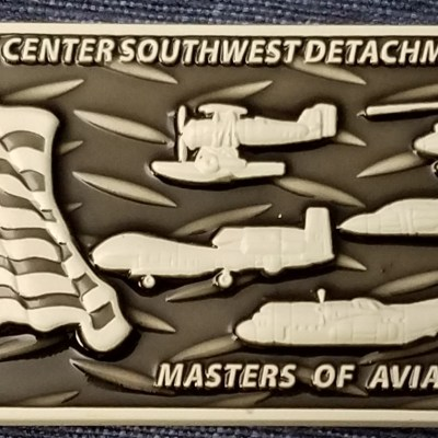 FRCSW Fleet Readiness Detachment Point Magu Aviation Maintenance Command Master Chief Rectangle Feat. Phoenix Challenge Coins®Armor™ back