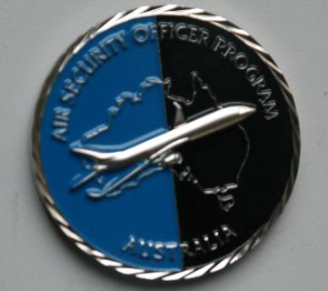 Australian Federal Police Air Marshal Program Challenge Coin back