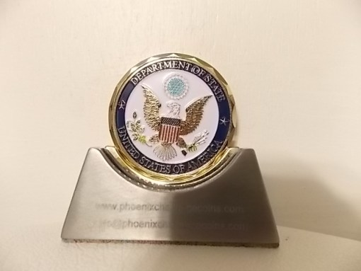 U.S. State Department US Ambassador Robert Sherman Portugal US Embassy Lisbon Portugal Custom Coin In Custom Presentation Box