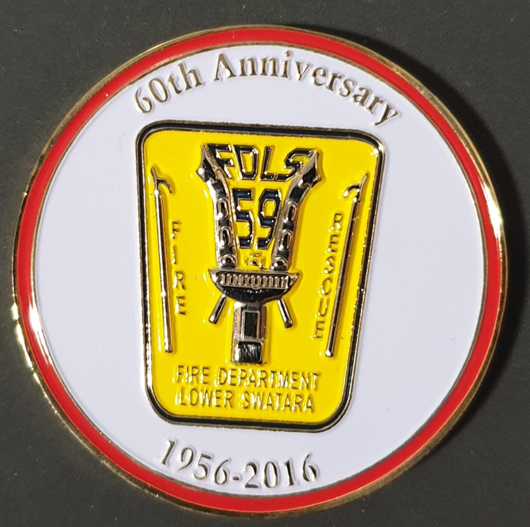 Lower Swatara Fire Department 60th Anniversary Challenge Coin front